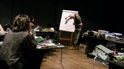 el primer otro workshop en el Espacio Ecléctico, 2008, Buenos Aires